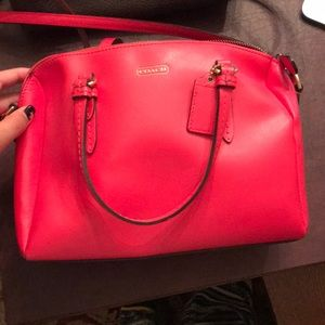 red coach shoulder bag